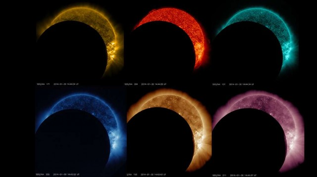 Solar eclipse from space 2
