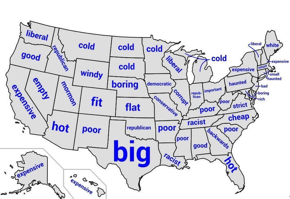 State's Stereotype according to Google