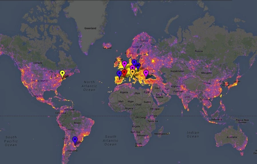 World Map of the most Photographed places