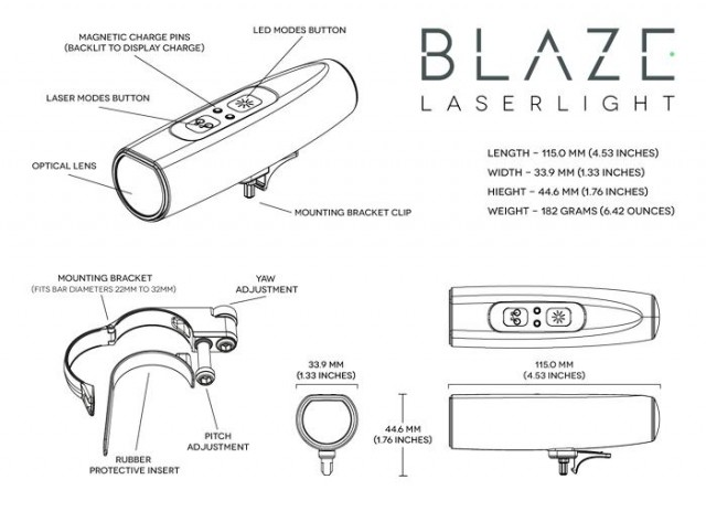 Blaze Laserlight for bicycle (1)