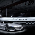 Cigarette 50 racing boat inspired by AMG Vision GT Conc...