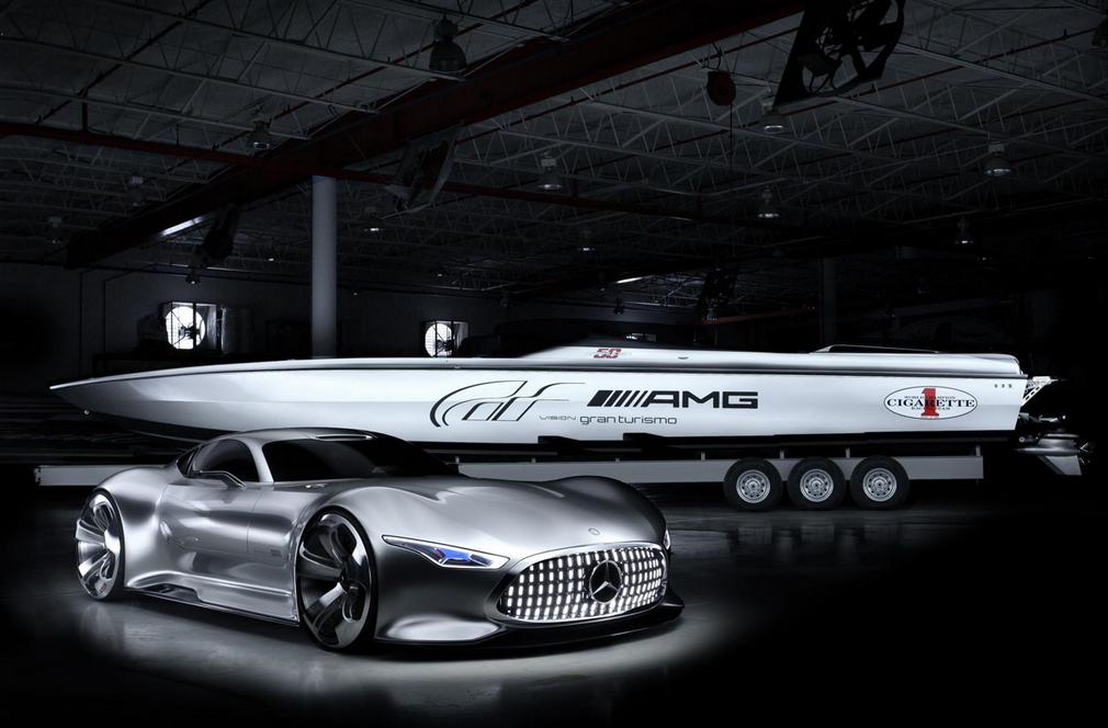 Cigarettte 50 racing boat inspired by AMG Vision GT Concept (8)