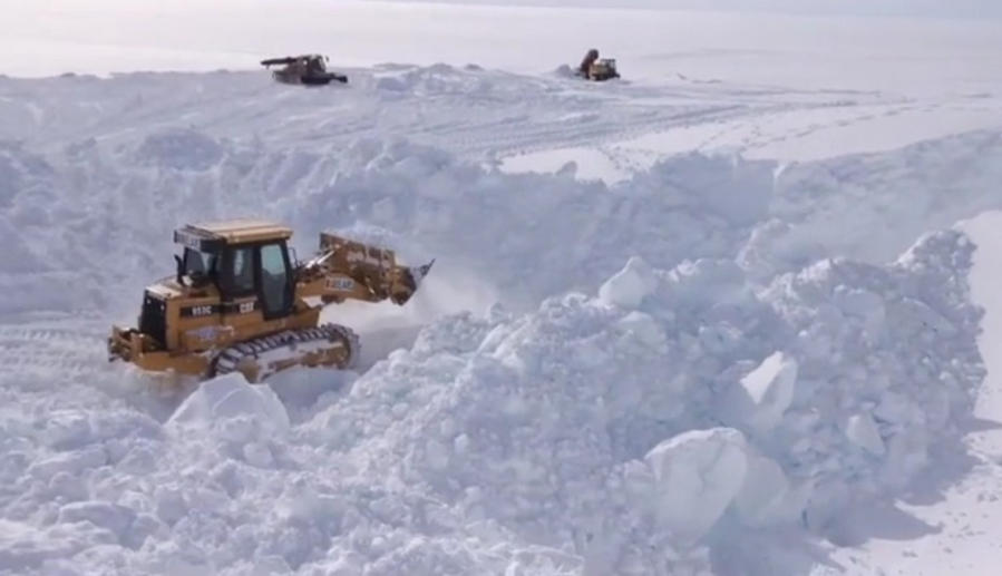 Clearing Antarctic Snow