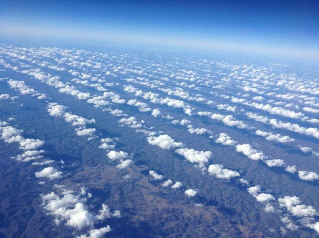 Cloud Trains over the Southern Appalachians