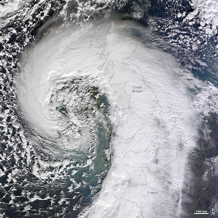 Extratropical Cyclone over the United Kingdom