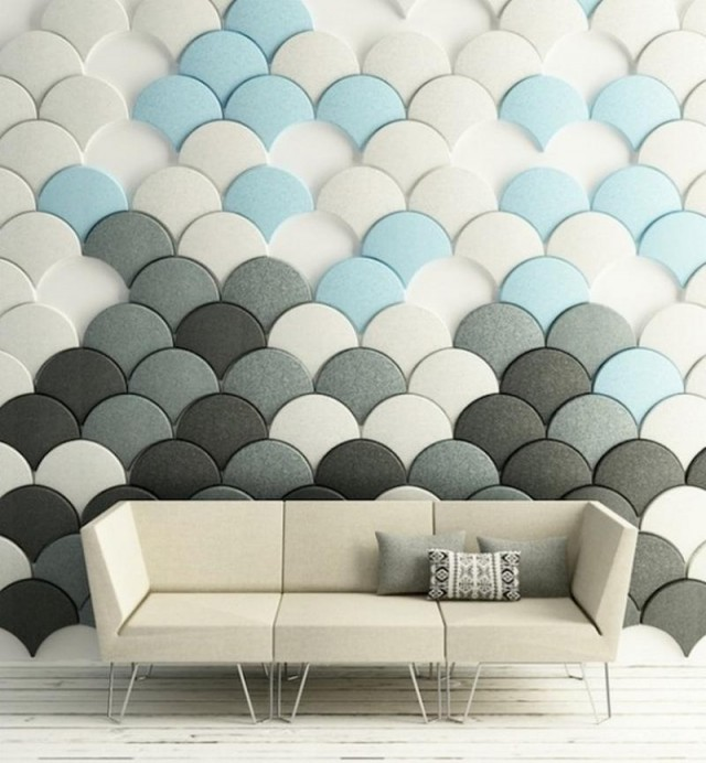 Ginko scale-shaped acoustic tiles (5)