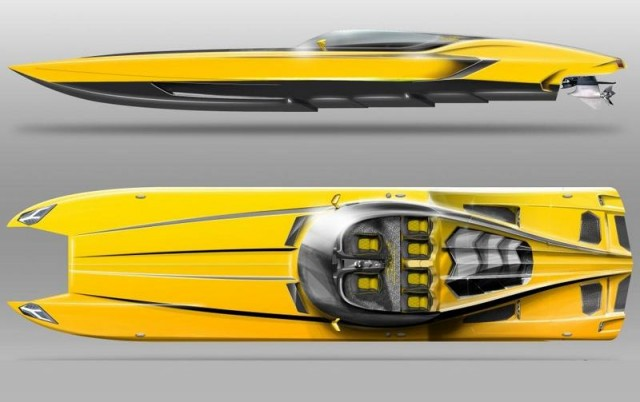 Lamborghini Aventador 3000hp Power boat (2)