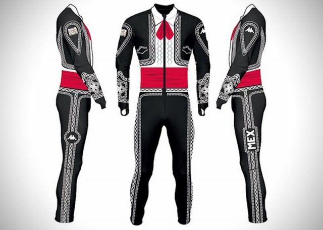 Mariachi ski uniform for the Olympics 1