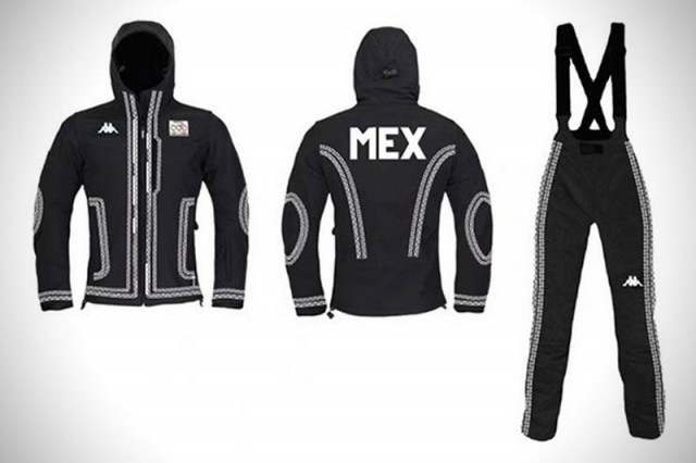 Mariachi ski uniform for the Olympics (2)