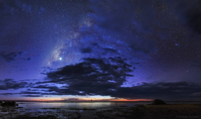 Night hides the World but reveals a Universe