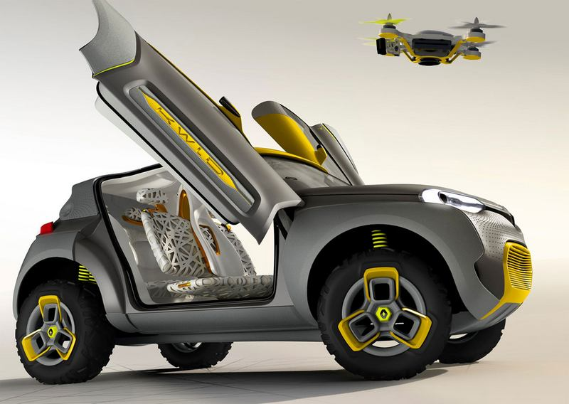 Renault KWID with a quadcopter (9)