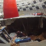 Sinkhole swallowed eight Corvettes