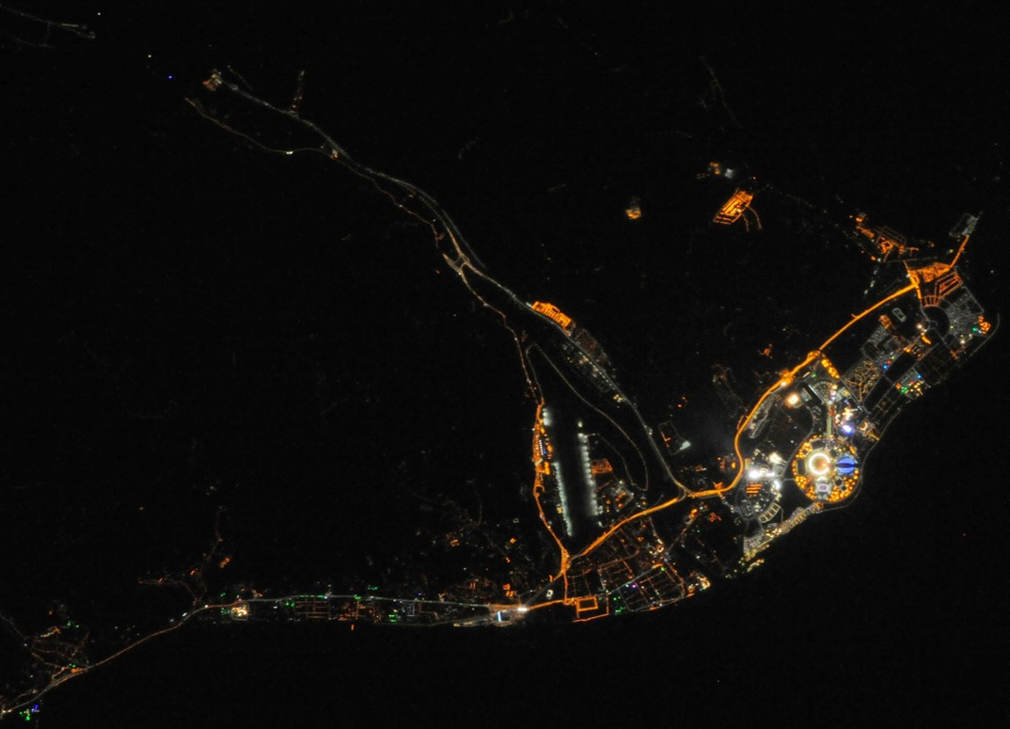 Sochi Olympic Park from ISS