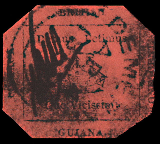 1-cent magenta stamp is going up for auction