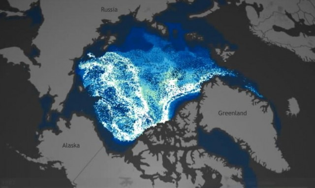 The Arctic ice is disappearing