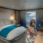 Virtual balcony staterooms via HD displays