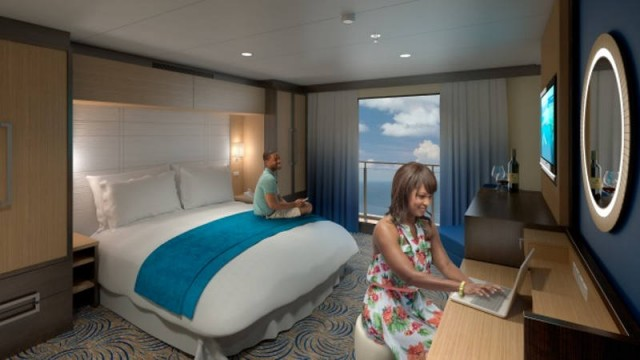 Virtual balcony staterooms with HD displays