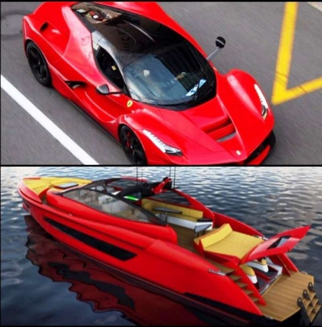 Yacht inspired by LaFerrari 1