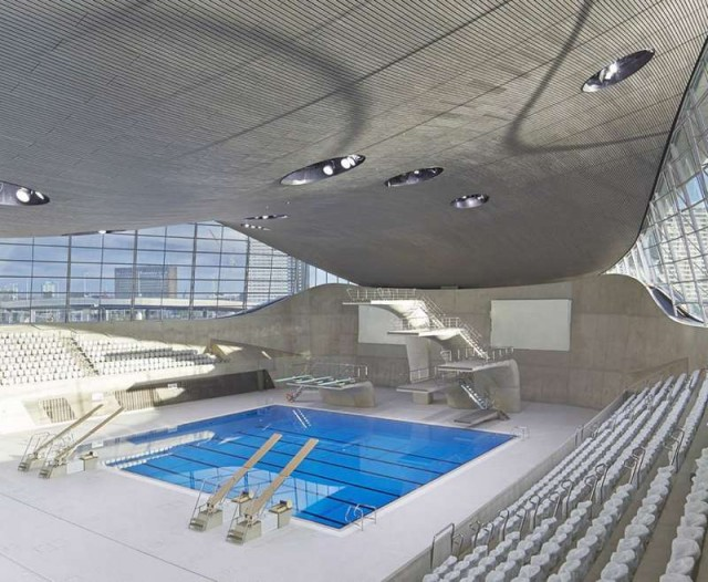 Zaha Hadid's London Aquatics Center opens to the public 3