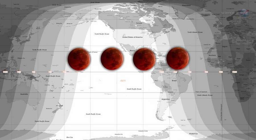 NASA Blood Moon Tetrad - Pics about space