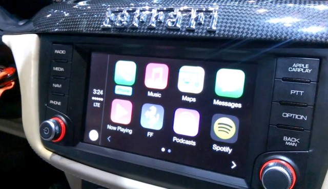 Apple's CarPlay in a Ferrari FF