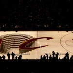 Cleveland Cavaliers pregame court Projection