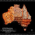 Continent Maps made out of real Food (9)