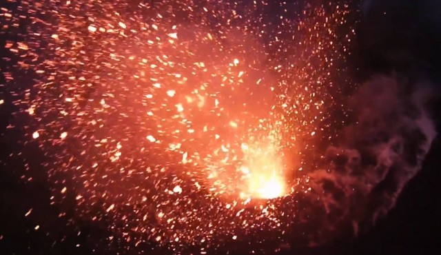 Drone flies into Volcano