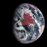 Earth Highlights Plant Growth in false-color image
