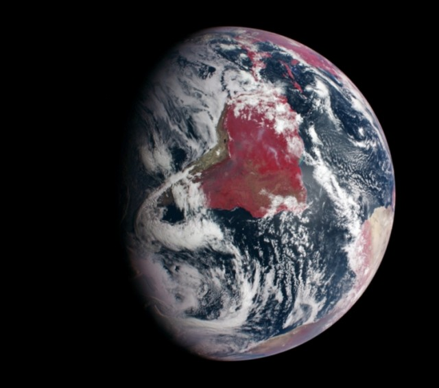 Earth Highlights Plant Growth in false-color image 1