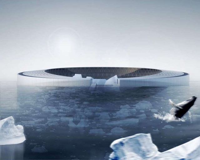 Floating Arctic City powered by Icebergs 4