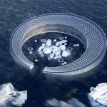 Floating Arctic City powered by Icebergs