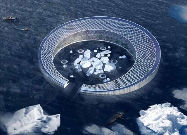 Floating Arctic City powered by Icebergs 5