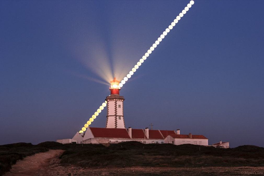 Full Worm Moon in the Lighthouse