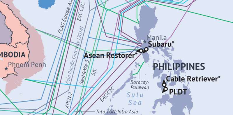 Global Submarine Cable Map | wordlessTech