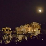 March Full moon over the Acropolis