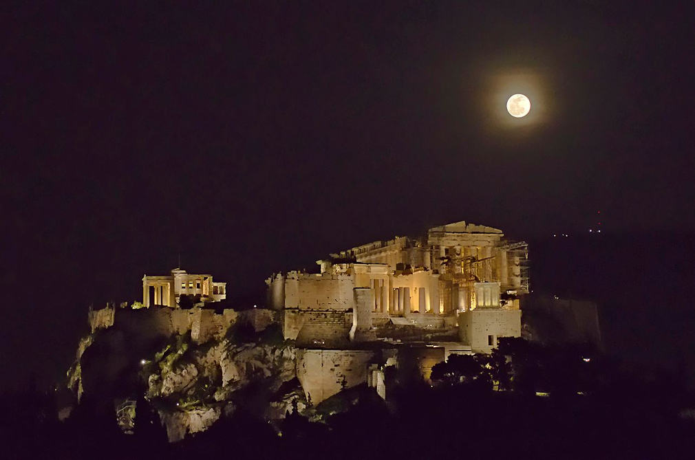 Full moon over the Acropolis