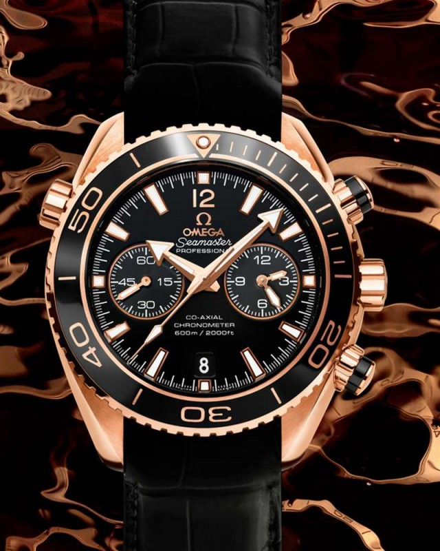 Omega Seamaster Planet Ocean Ceragold Watch (5)