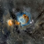 Orion Nebula in Surrounding Dust