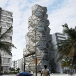 Pentagonal housing tower by Tammo Prinz architects
