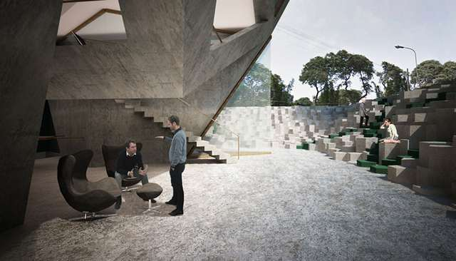 Pentagonal housing tower by Tammo Prinz architects (5)