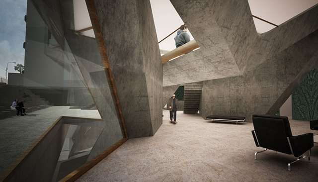 Pentagonal housing tower by Tammo Prinz architects (4)