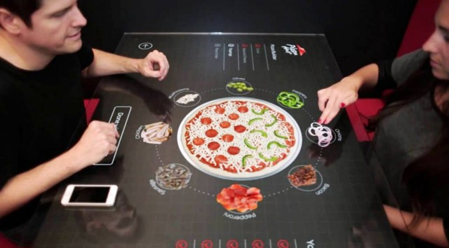 Pizza Hut reveals interactive table concept