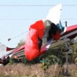 Skydiver and pilot survive airborne collision