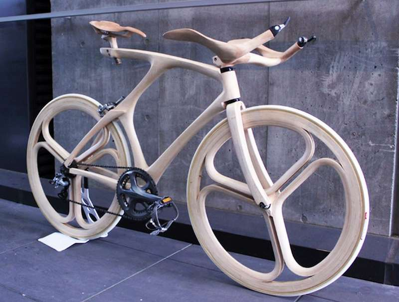 Stunning Sculpted Wooden Bicycle (4)
