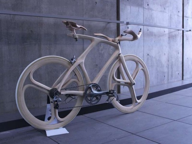 Stunning Sculpted Wooden Bicycle (1)