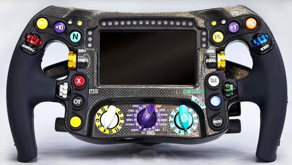 Mercedes F1 steering wheel 2
