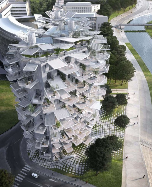 Tree-Inspired Housing Tower for Montpellier  1