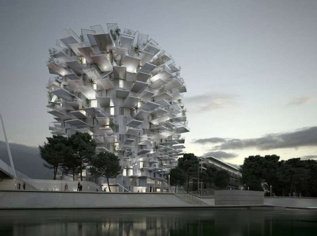 Tree-Inspired Housing Tower for Montpellier (1)