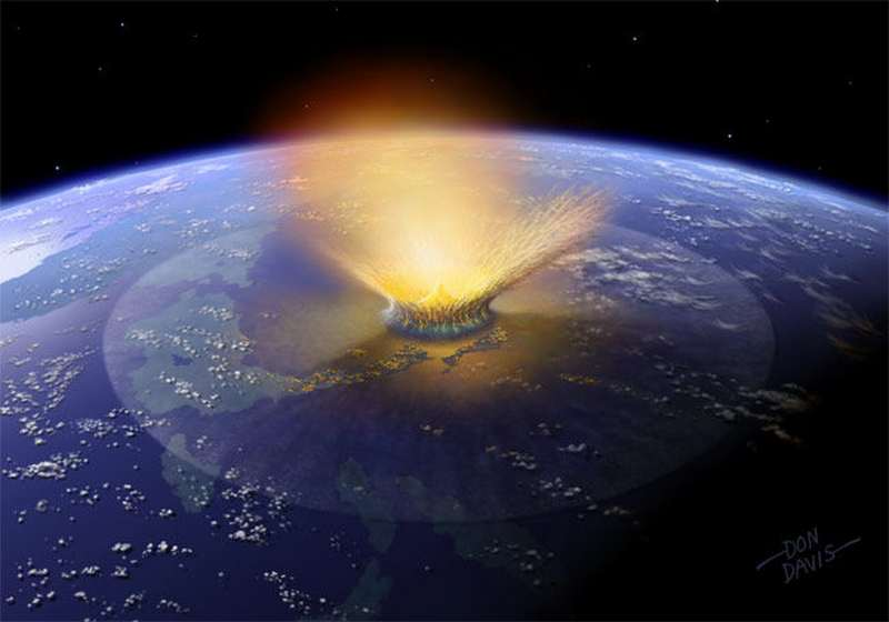 Were dinosaurs disappeared by Dark Matter 1